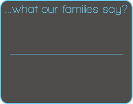 ...what our families say?
